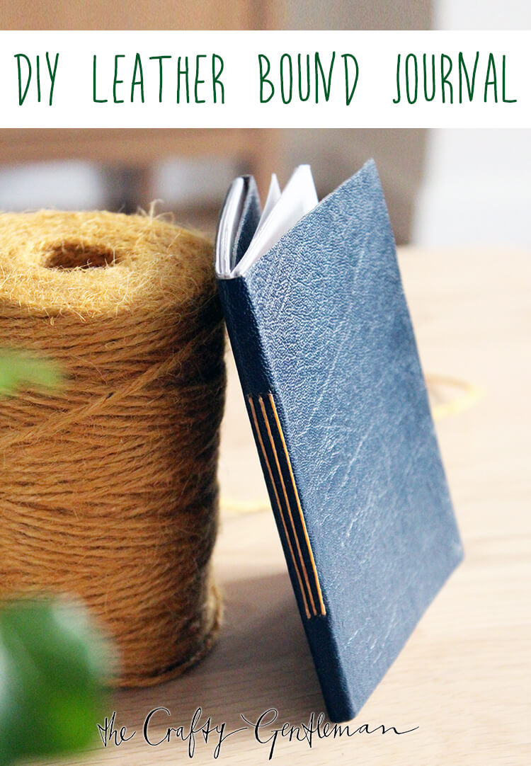 DIY leather bound notebook | The Crafty Gentleman