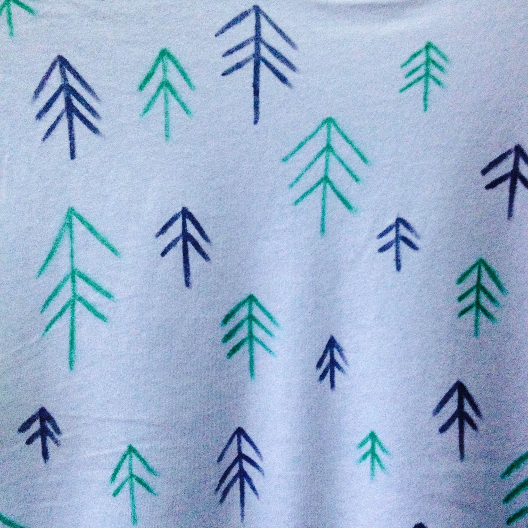 DIY Scandinavian Inspired Christmas Tree T-Shirt