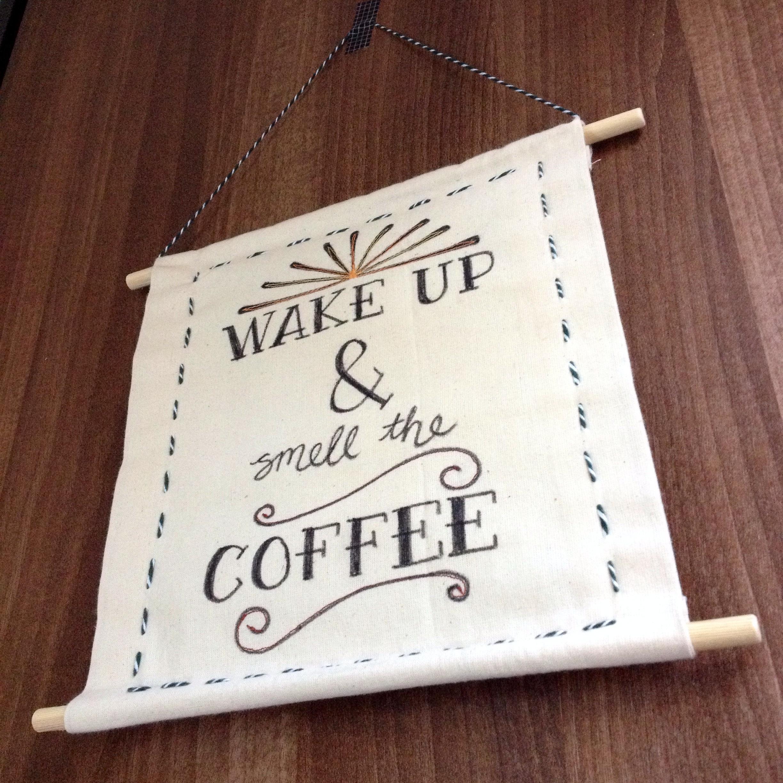 DIY Hanging Fabric Wall Art