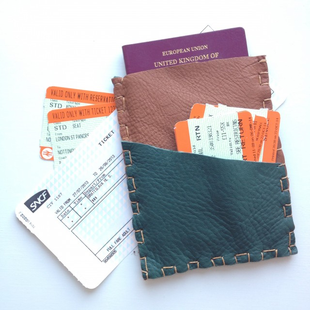 DIY Leather Passport Holder