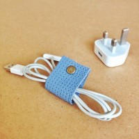 DIY leather cable organiser