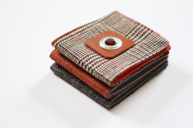 DIY tweed wallet