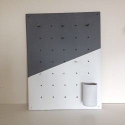 Make a DIY pegboard with a geometric colour block