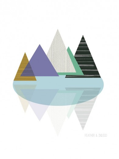 Abstract mountain print from Feather And Indigo