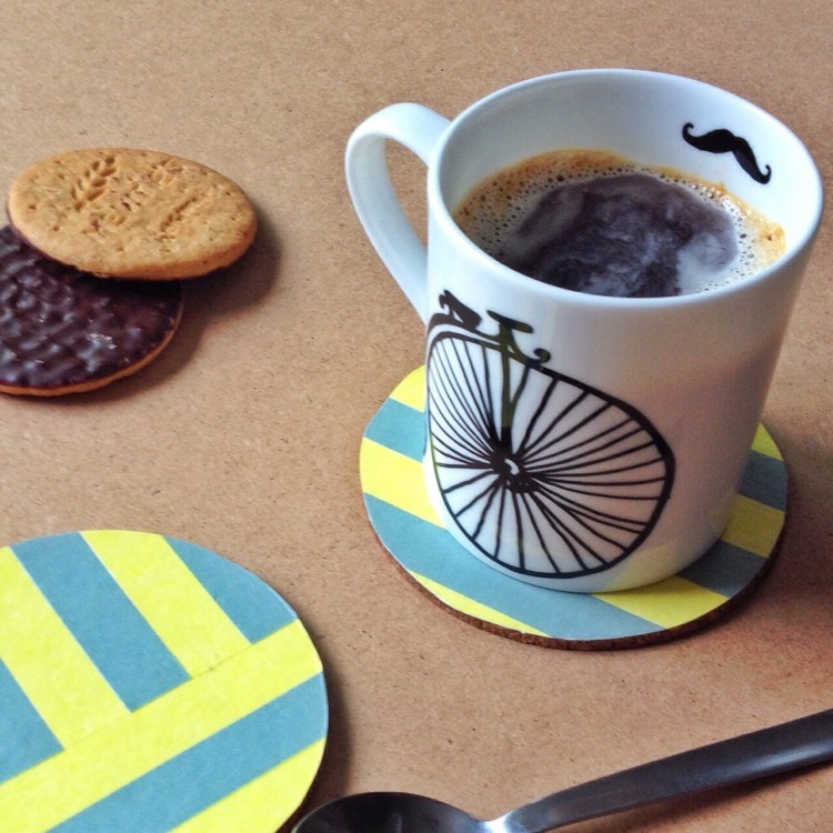 DIY Washi Tape Coaster