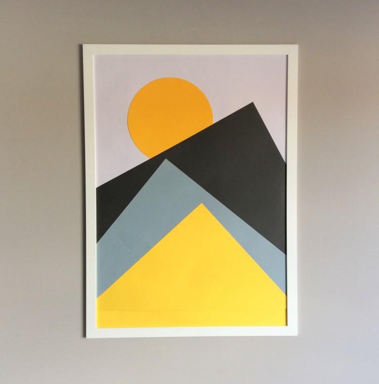 DIY Nordic geometric wall art