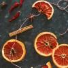 DIY autumn dried fruit wall hanging