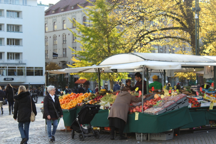 A market in Malmo, Sweden