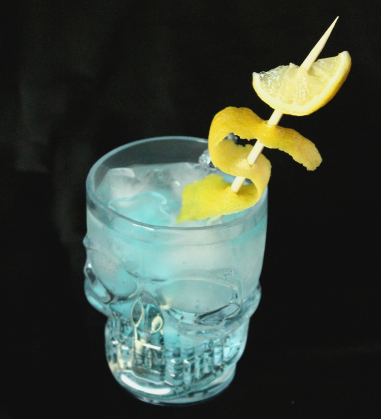 Halloween cocktail recipe gin and tonic