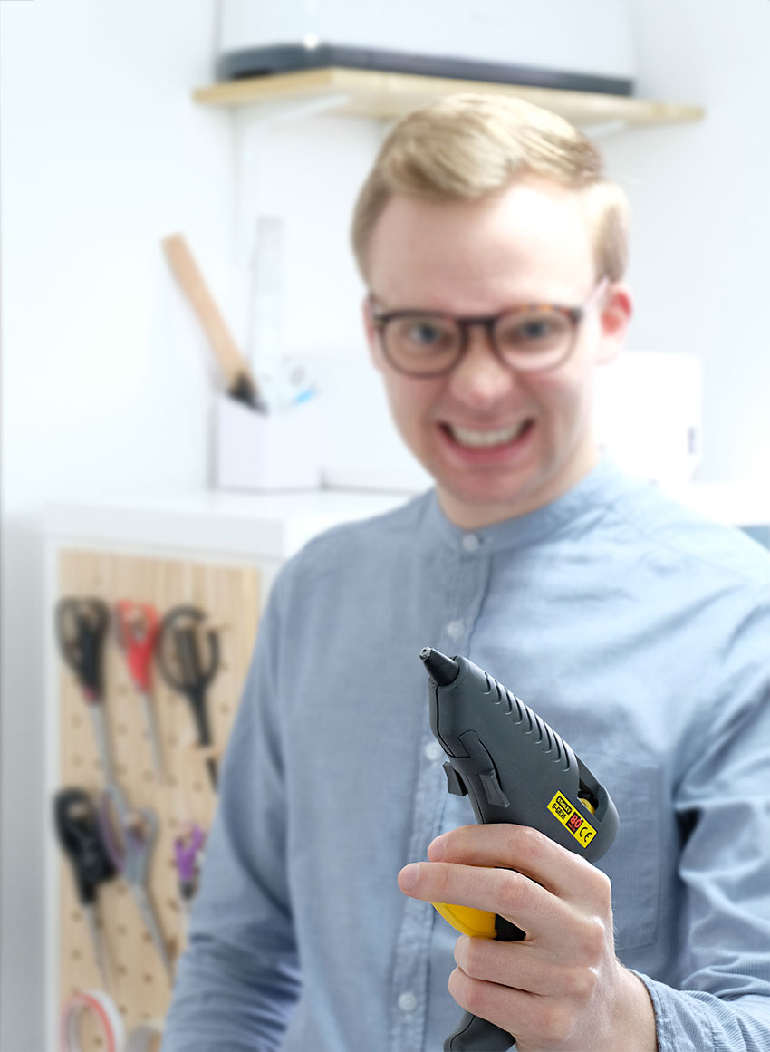 The Crafty Gentleman blog | DIY and craft blog for men | Mike Aspinall | glue gun