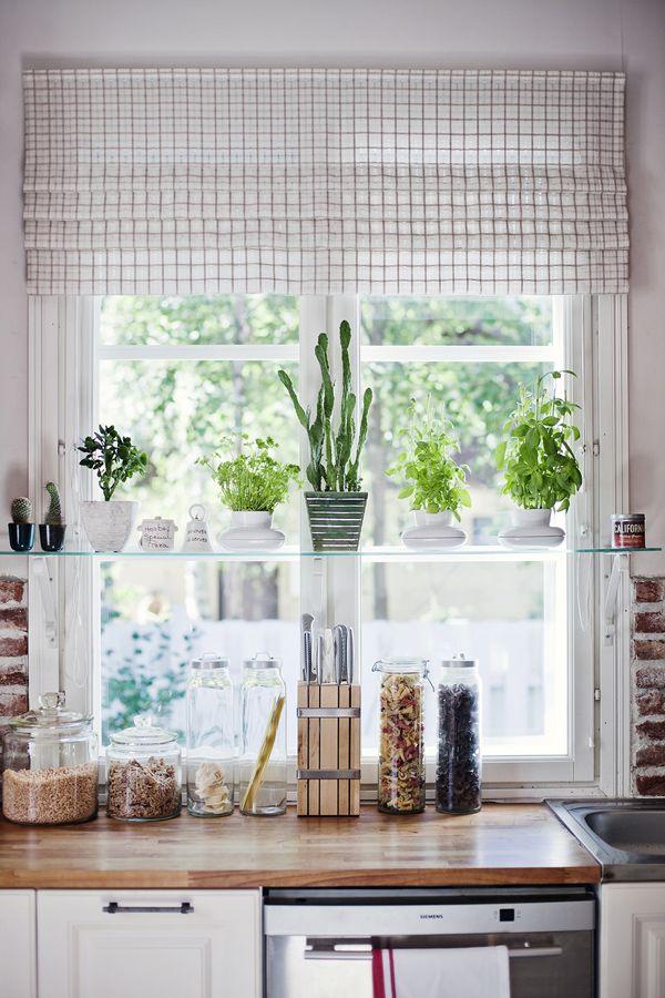 Glass kitchen shelf