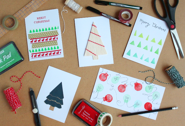 5 simple handmade christmas cards you can make yourself simple handmade christmas cards solutioingenieria Images