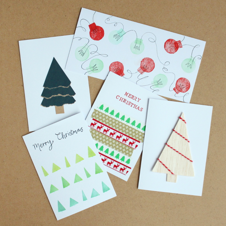 5 Simple Handmade Christmas Cards You Can Make Yourself