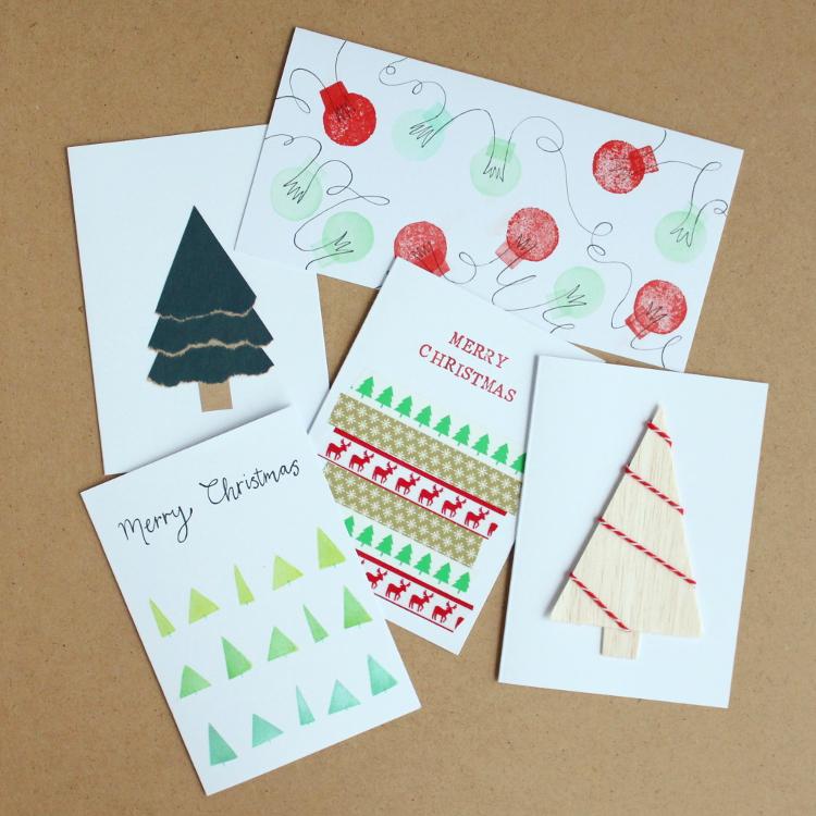 simple handmade christmas cards simple handmade christmas cards - Simple Christmas Cards