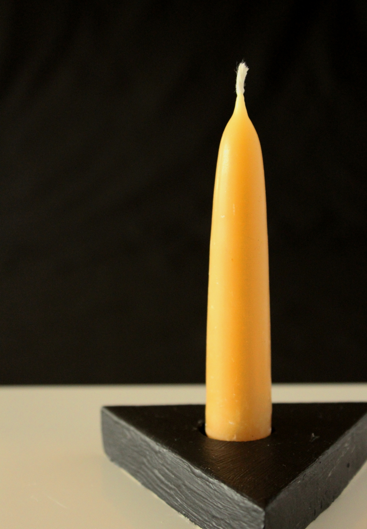 DIY geometric candle holder