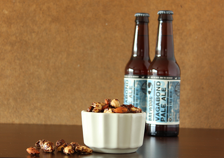 Beer ale flavoured roasted nuts recipe