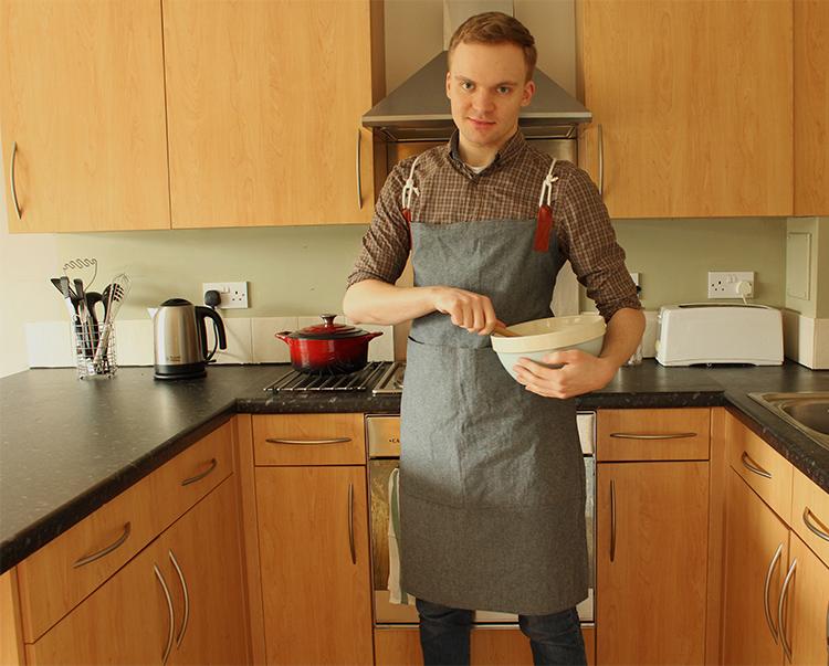 Handmade leather and denim apron tutorial