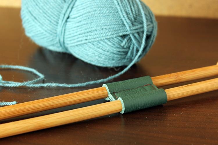 DIY leather knitting needle holder The Crafty Gentleman
