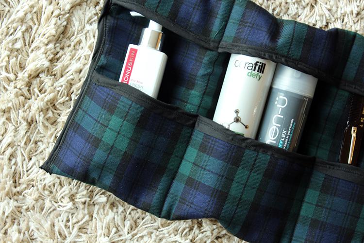 DIY roll up travel toiletries bag