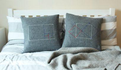 DIY geometric mathematical cushion cover
