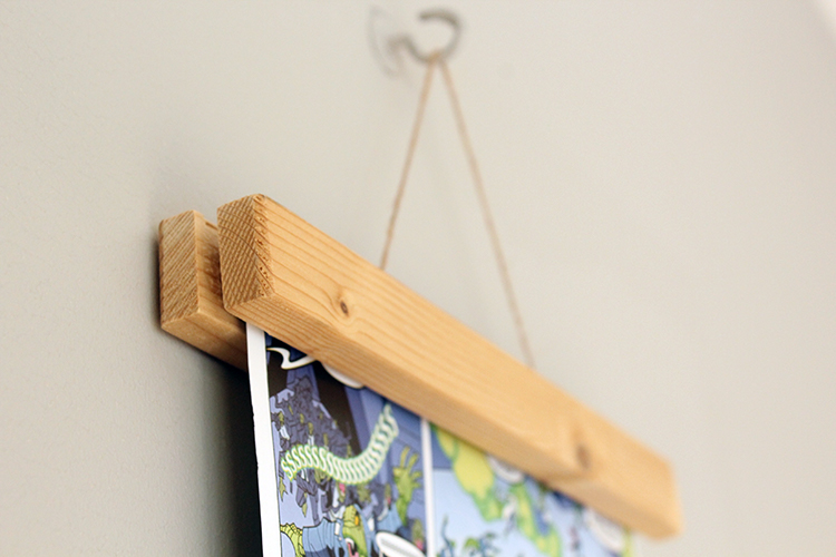 Exceptional ... Magnetic Wooden Frame For Wall Art | The Crafty Gentleman // Click For  Tutorial ...