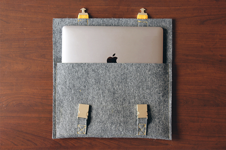 DIY Macbook cover satchel inspired | Click for tutorial