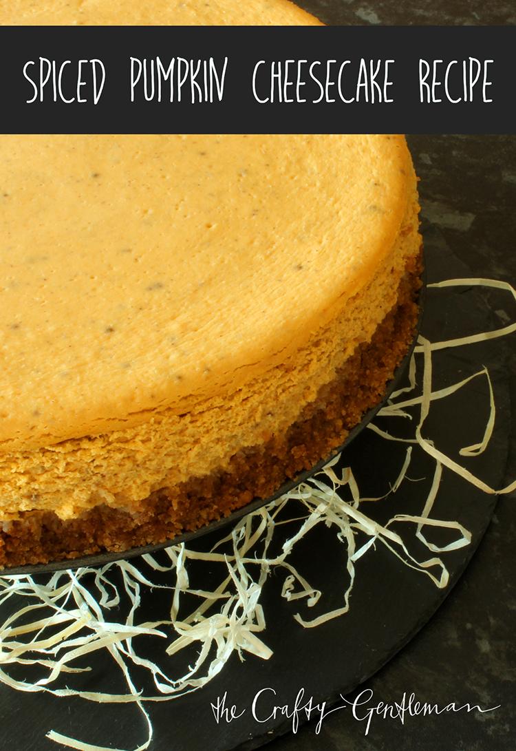 Spiced pumpkin cheesecake recipe | Halloween dessert