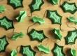 Make a felt holly leaf garland this Christmas