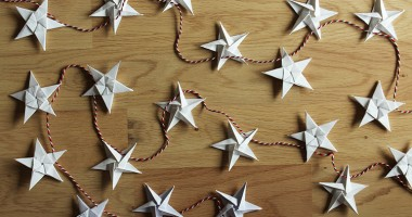 Origami star garland tutorial