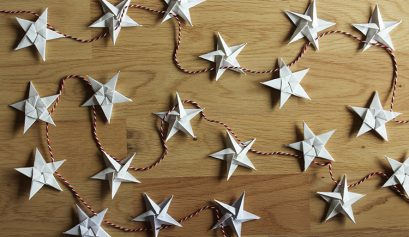 Origami star garland tutorial