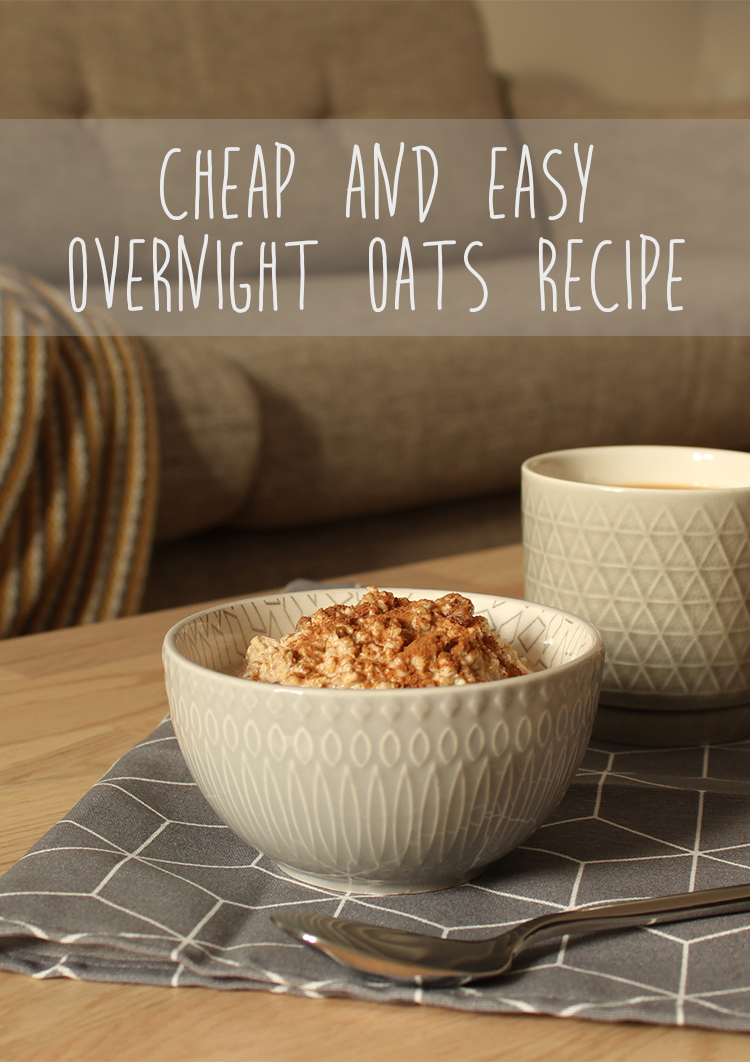 Easy and cheap overnight oats recipe - click through for more