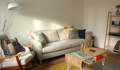 Mid century modern Scandinavian style living room