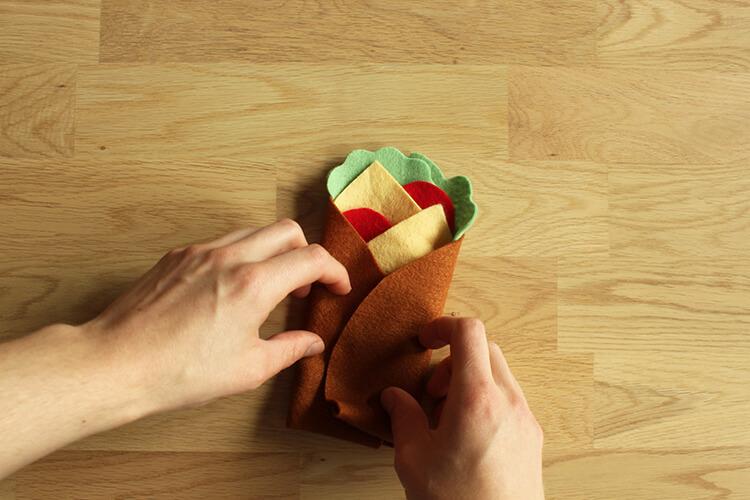 How to make a felt fajita burrito
