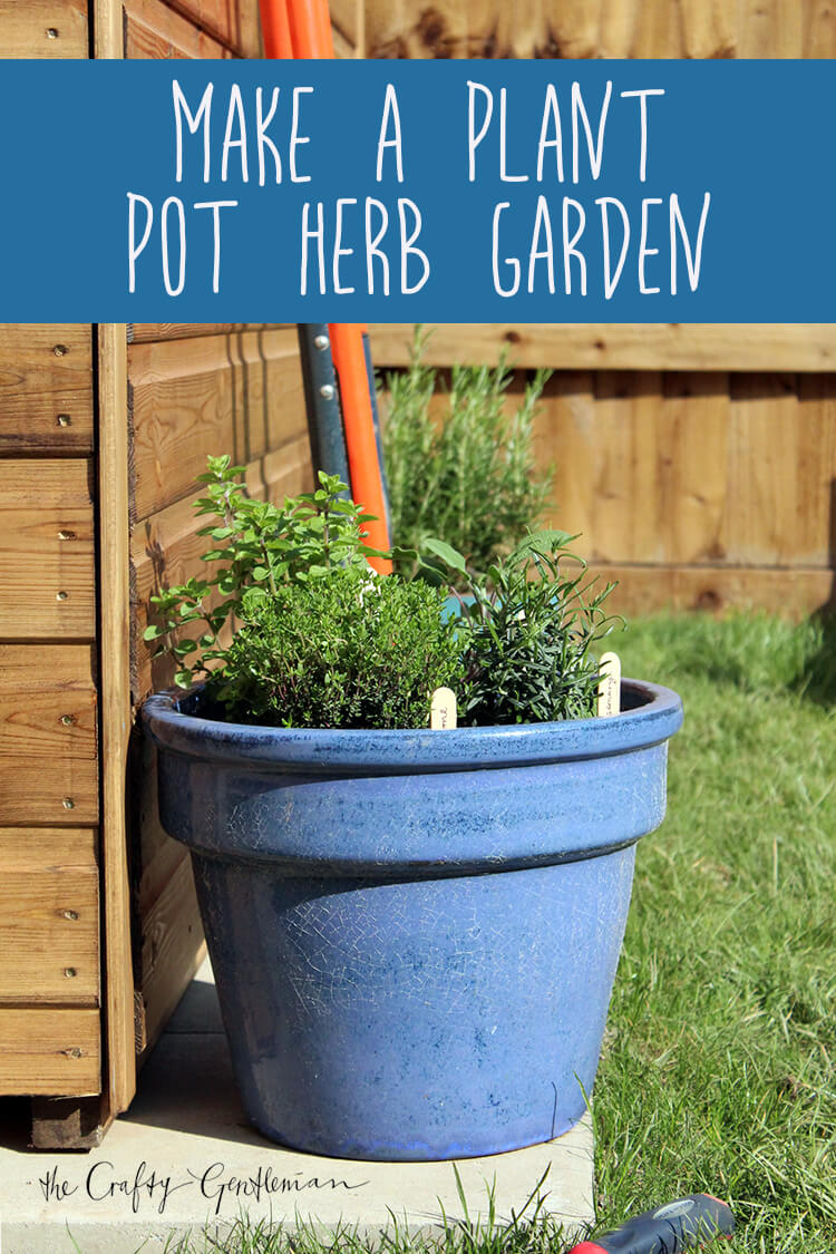 Make a mini plant pot herb garden | Click for step-by-step guide
