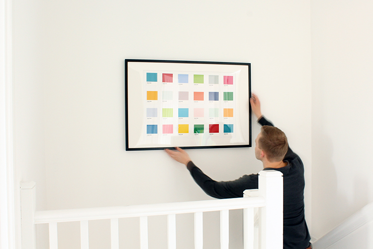DIY Pantone wall art