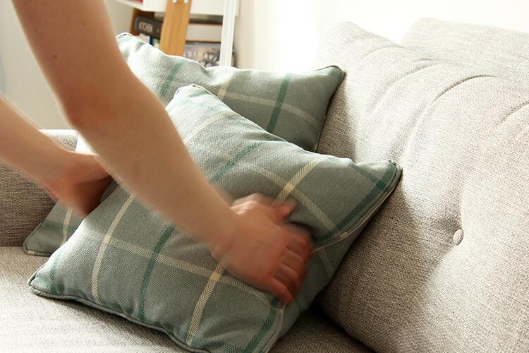 DIY cushion with piping