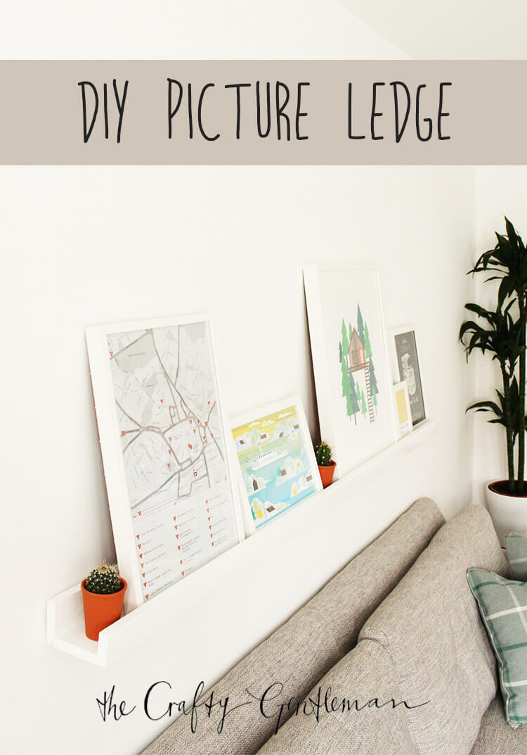 How to make a DIY picture ledge - Click through for more