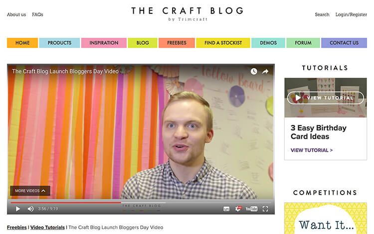 I was interviewed by Trimcraft about their new craft blog and their 2017 blogger's day.