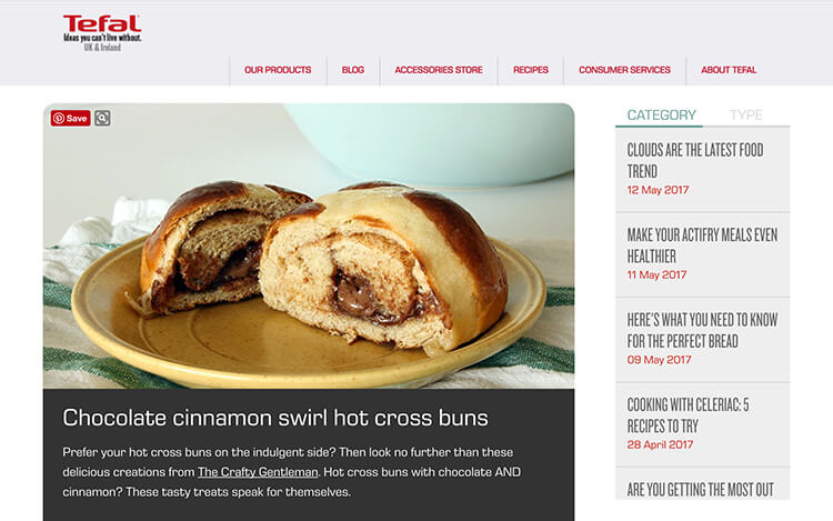My recipes have been chosen for the Tefal blog, featuring on their homepage and social media.