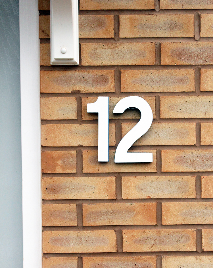 DIY house number tutorial