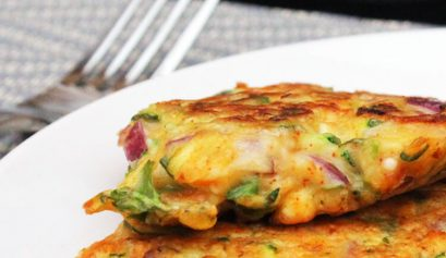 Carrot and courgette veggie fritters