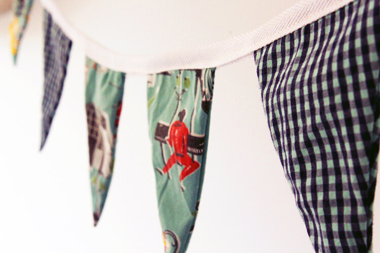 How to make fabric bunting from old shirts