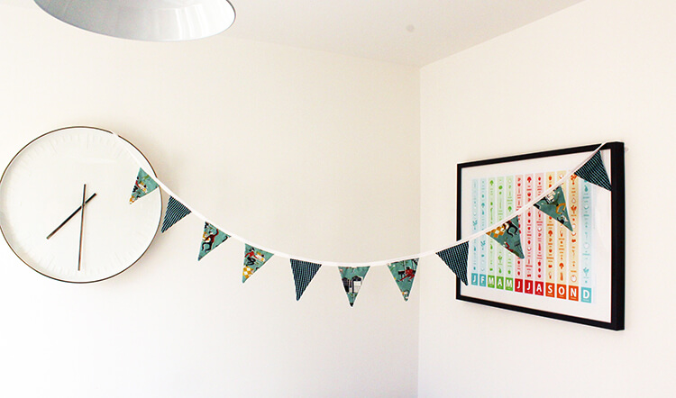 How to make fabric bunting from old shirts 4