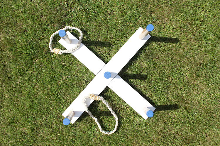 DIY ring toss game - make your own quoits