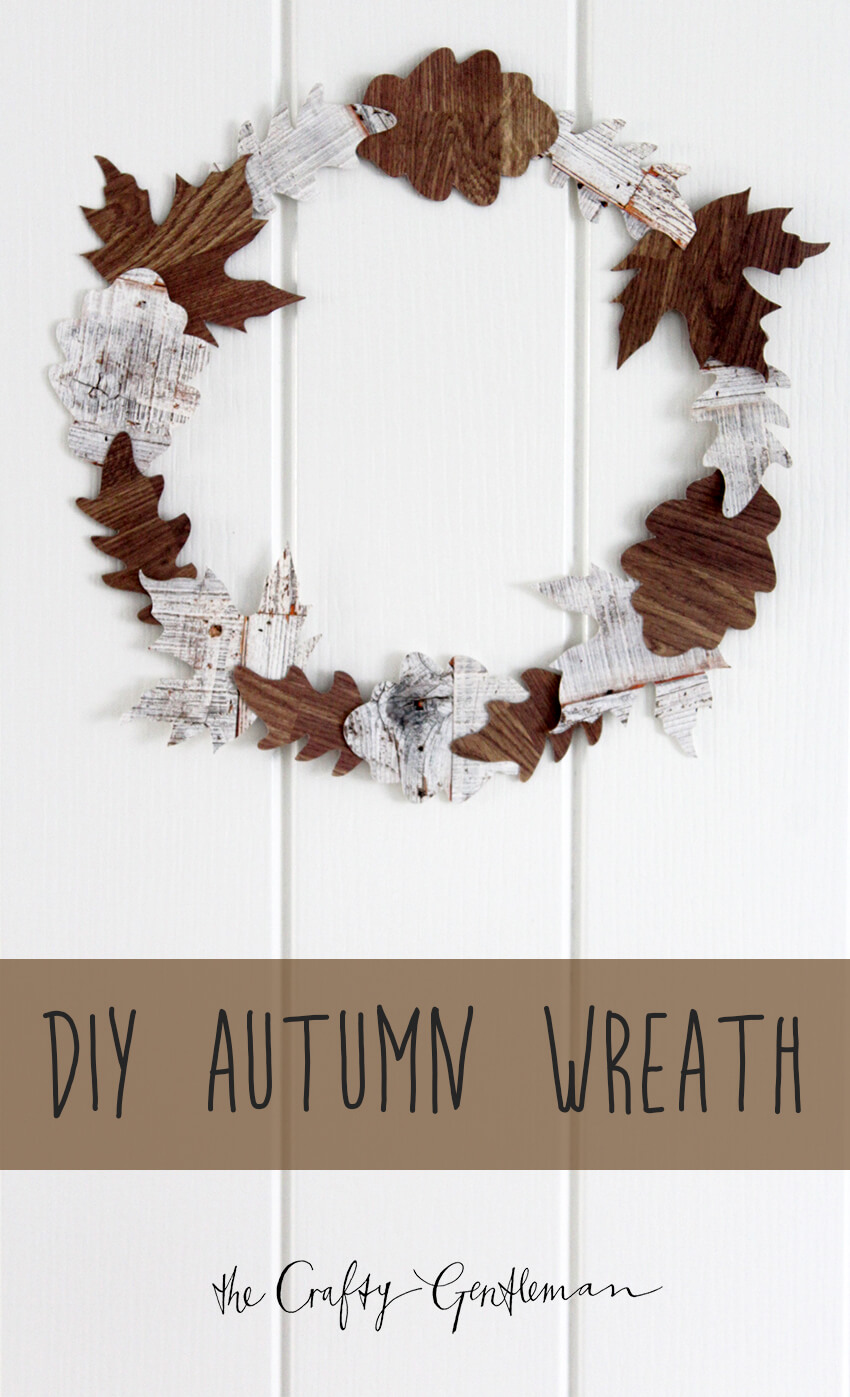 Handmade DIY autumn wreath