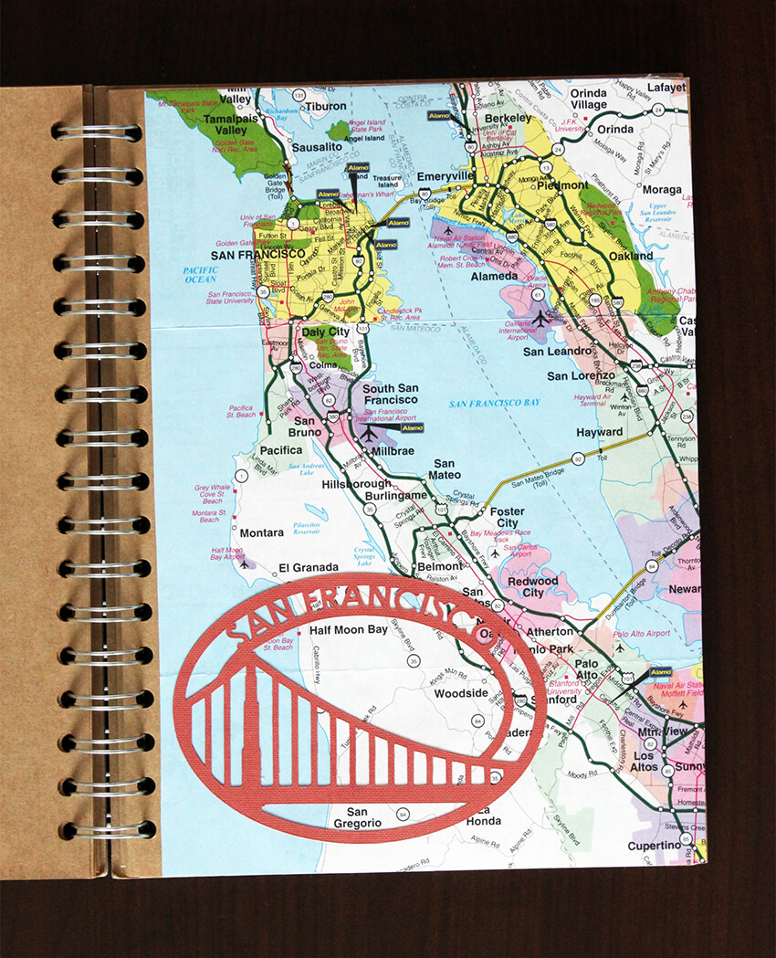 San Francisco travel scrapbook