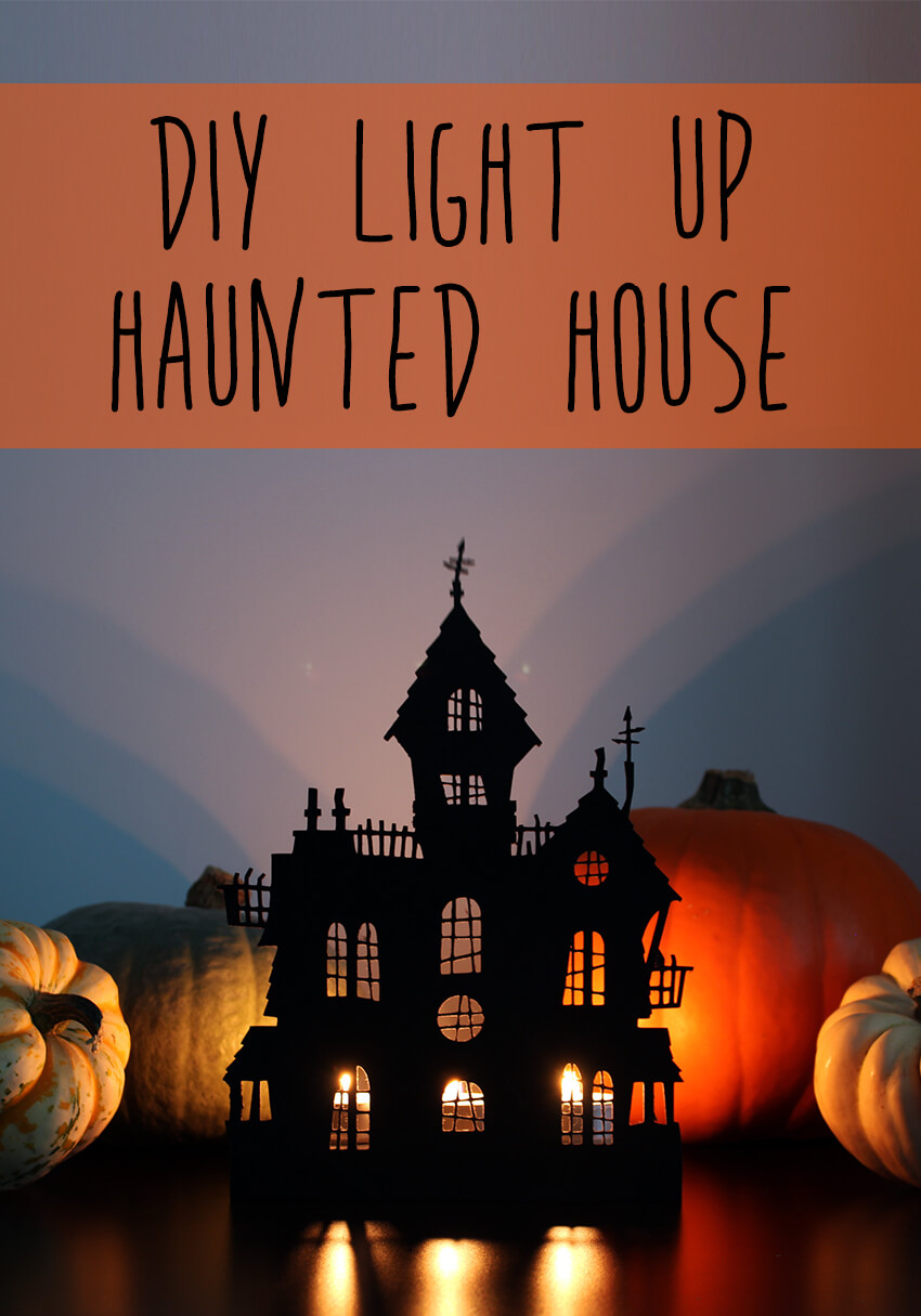Light Up Diy Haunted House Decoration Halloween Crafts