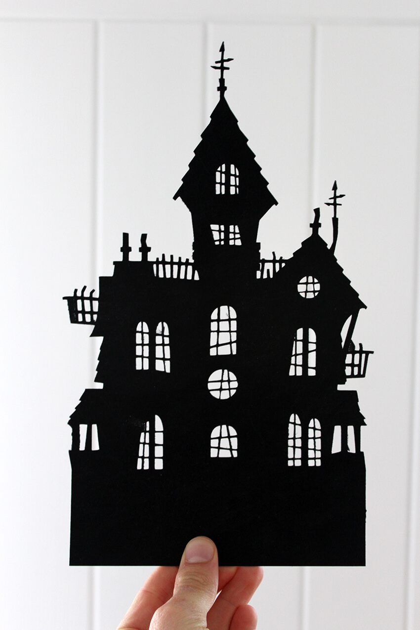Make your own light up Haunted House decoration