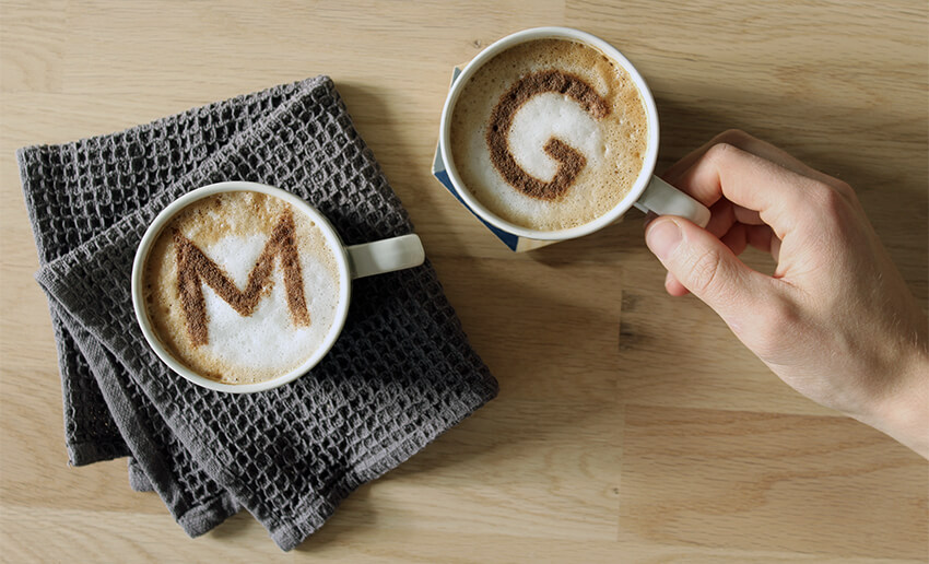 DIY Personalised Coffee Stencils