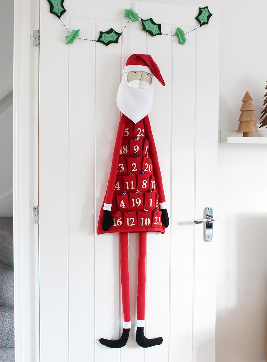 diy fabric santa advent calendar the crafty gentleman. Black Bedroom Furniture Sets. Home Design Ideas